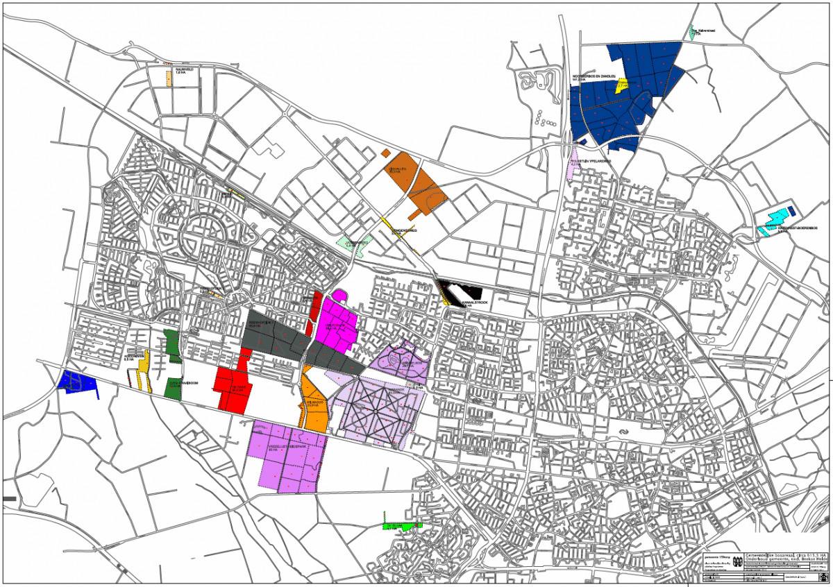 Het Tilburgsbos: ruim 600 hectare bos en heidegebied, verdeeld over 26 gebieden.